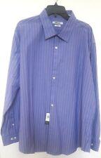 DKNY Purple Stripe Long Sleeve Slim Fit 100% Cotton Dress Shirt 18 34/35