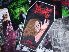 The True Mayhem Coffin Patch Shape Dead Morbid 1969-1991 Black Metal Legend