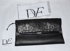 """BRAND NEW WITH TAG"""" DVF Diane von Furstenberg 440 ENVELOPE  CLUTH LACE LEATHER 0"""