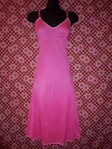 Vintage Dyed Hot Pink Slip Size 14-16 Hilton