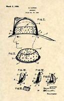 Original Firefighter Helmet US Patent Art Print- Official 1926 Cairns FDNY 280