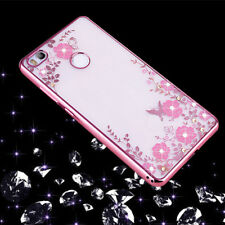 Pellicola vetro+Custodia cover Luxury Diamond per Huawei P8 Lite 2017 case TPU