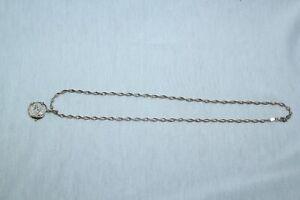 Small Sterling Silver Spanish Pirate Treasure Coin Doubloon Replica necklace