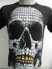 Mens Licensed Diamond Skeleton Shirt New S