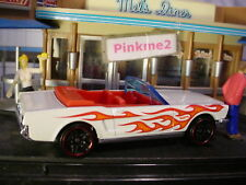 2018 HW FLAMES Design '65 FORD MUSTANG CONVERTIBLE☆white/red☆LOOSE Hot Wheels