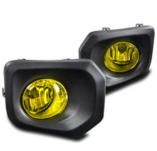 2016-2017 TOYOTA TACOMA BUMPER YELLOW DRIVING FOG LIGHTS LAMP+BLACK BEZEL W/BULB