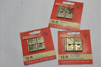 "3 NEW PACKAGES NEW RIDGID 1/4"" 12-R PIPE DIES! NPT! NPSM FOR 00-R/111-R/0-R/11-R"