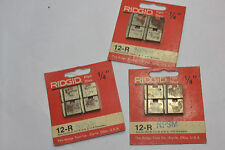 """3 NEW PACKAGES NEW RIDGID 1/4"""" 12-R PIPE DIES! NPT! NPSM FOR 00-R/111-R/0-R/11-R"""