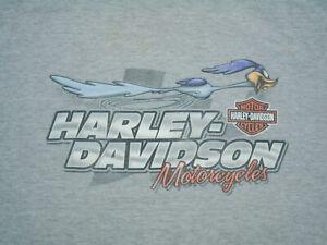 HARLEY DAVIDSON Motorcycle T-Shirt ROAD RUNNER Looney Tunes PRINCETON Vtg 4XL