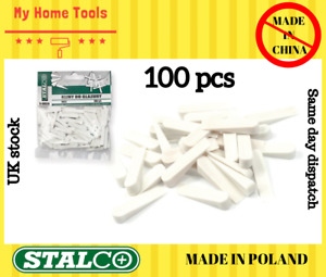 100 pcs SMALL size Wedges Spacers Tile Tool Tiling Flooring set White Stalco 4mm