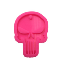 Punisher Skull Mold, Shiny Mold, Silicone Mold for Epoxy Resin Crafts