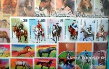 Thematics 50 different Horses and Ride stamps