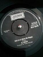 """Al Green – Sha-la-la (Make Me Happy) Vinyl 7"""" Single UK HLU 10470 1974"""