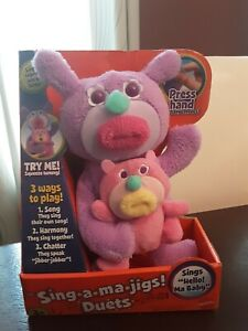 Rare Vintage Sing A Ma Jig Singamajig Duet Big And Small Plush Toy New in Box