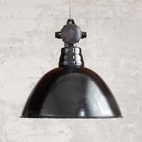 Original Fabriklampe Vintage Emaille-Leuchte Industrie Antik alt Ø 41 cm