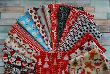 Fat quarter Christmas fabric poly cotton quilting sewing Christmas crafts bundle