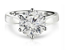 1.25ct F/VS2 ROUND-CUT DIAMOND SOLITAIRE ENGAGEMENT RING IN 14K WHITE GOLD