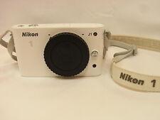 NIKON 1 J1 10.1 MP DIGITAL CAMERA - WHITE (BODY ONLY) CONDITION VERY GOOD F/S!!