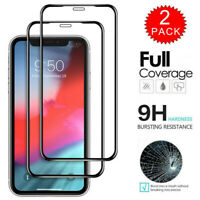 2 Pack For iPhone 11 Pro 11 Pro Max Full Cover Tempered Glass Screen Protector