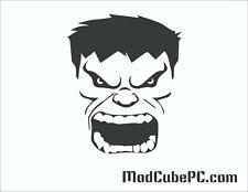 Big Green Guy Logo Computer PC Case Window Applique Vinyl Decal (Color Choices)