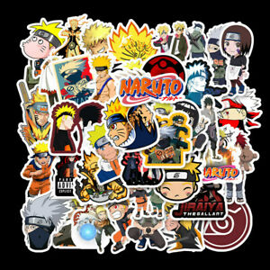 50Pcs Anime Cartoon Stickers Pack Naruto Ninja No Repeat Laptop Phone Toy Decal