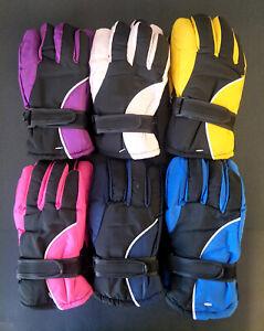 Kids Children Winter Snow Ski Skiing Gloves Outdoor Sports Glove Windproof