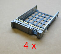 "4 x Cisco 2.5"" Hard Drive Tray HDD Disk Caddy Bracket 800-35052-01 UCS Servers"