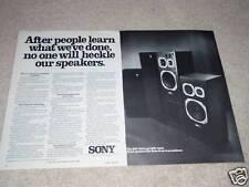 Sony SSU-4000,3000 Speaker Ad, 2 pgs, 1977,Article,Nice