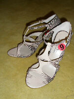 New KORS by Michael Kors T-strap Leather Snake Python Sandals Shoes Sz 6 $250