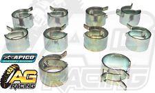 Apico Fuel Line Pipe Hose Clamp Clamps 15mm Clips x10 10 Pack Trike ATV Quad 4x4