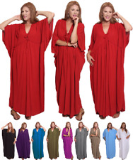 Empire Tie Caftan Maxi Dress-Crinkle Rayon NOW Size Up to 7X- V9630 LotusTraders