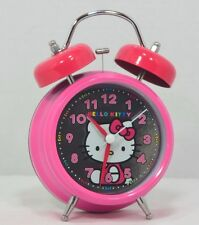 HELLO KITTY VINTAGE REPRODUCTION TWIN BELL ALARM CLOCK 1976 - 2011 HOT PINK