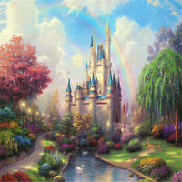 Rainbow Castle -Jigsaw Puzzles 1000 Pieces Assembling Educational Toy Gift A