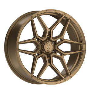 """22"""" ROHANA RFV2 CONCAVE MATTE BRONZE WHEELS RIMS FOR FORD F150 EXPEDITION 6X135"""