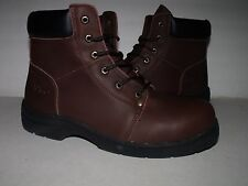 """Ad Tec Mens 6"""" Soft Toe Casual Leather Workboot  (Brown) NEW Mens Sz 9.5"""