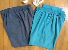 2 Pairs Alfred Dunner Womens Pants 14 Proportioned Short Blue & Gray NWT