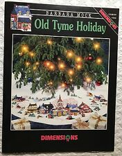 Old Tyme Holiday Cross Stitch Pattern Dimensions Christmas Tree Skirt B Mock New