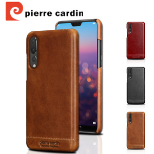 Pierre Cardin Retro Genuine Leather For Huawei P20 Pro Case Hard Back Case Cover