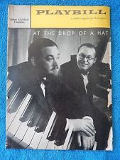 At The Drop Of A Hat - John Golden Playbill - March 28th 1959 - Michael Flanders