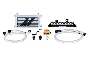 MISHIMOTO Oil Cooler Kit Silver+Thermostat 13-15 Ford Focus ST 2.0L EcoBoost