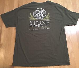 Stone Brewing Co San Diego North County Tshirt GREEN  XL