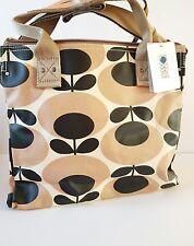 Orla Kiely Nude GIGANTE OVALE STELO ZIP Messenger Bag NEW RRP £ 115.00 regalo di bello