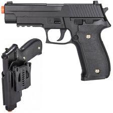 FULL SIZE METAL SPRING AIRSOFT PISTOL HAND GUN w/ HIP HOLSTER SHELL 6mm BB BBs