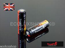 2x TrustFire TF 14500 900mAh Li-ion AA 3.7v Genuine ICR Battery UK