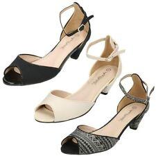 Strappy, Ankle Straps Standard (D) Kitten Heels for Women
