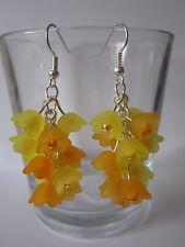 Goccia/Dangle Earrings-Cluster di fiori-ARANCE LIMONI N