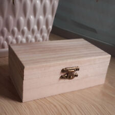Fashion Small Wooden Jewellery Boxes Plain Unfinished Wood Trinket Box Case