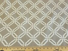 By the yard Decorator fabric lattice graphic drapery upholstery crafts