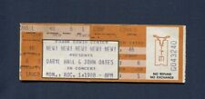 1988 Daryl Hall & John Oates unused concert ticket Austin Texas Ooh Yea Tour