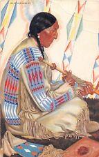 F75/ Native American Indian Postcard Chrome Sundance Blackfeet Chief 17